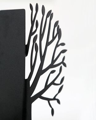 Metal Bookends «Spring Tree» functional home decor by Atelier Article, Black