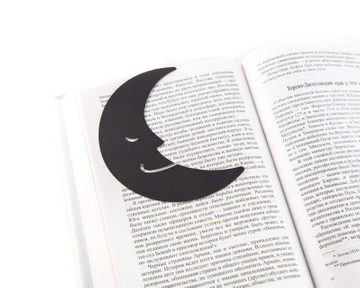 Metal bookmark / Good reading night / by Atelier Article, Black