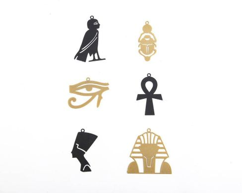 Minimalistic Christmas ornaments Ancient Egypt inspired a set of 6 // ready to give packaging