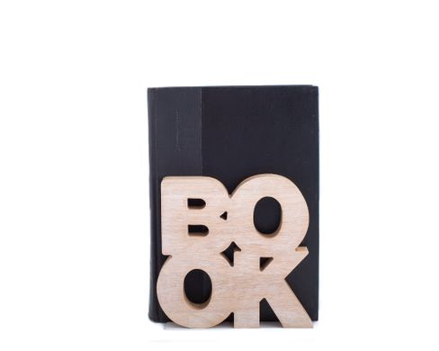 Wooden Bookends «BookOne» by Atelier Article, Beige