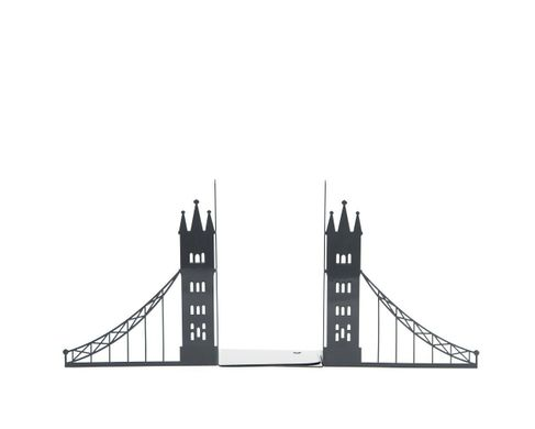 Unique metal bookends «London bridge» by Atelier Article, Black