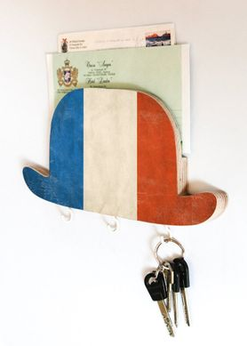 Wall Mail Key Organizer Shelf - Bowler Hat France- by Atelier Article