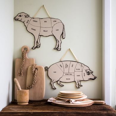 Decorative Lamb for your kitchen Meat cutting chart