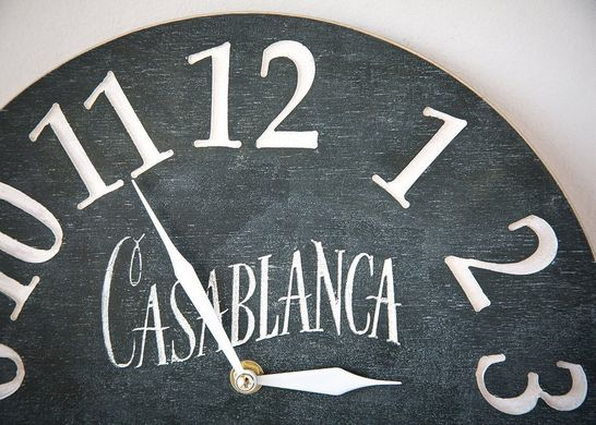 Wall clock // Casablanca // pseudo vintage birch clock hand painted by Atelier Article, Black