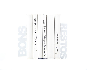 Metal Kitchen bookends «Bons Restos» (Good eats in French) by Atelier Article, White