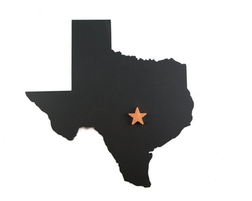 Wall art // Texas state with a copper star // by Atelier Article, Assorted