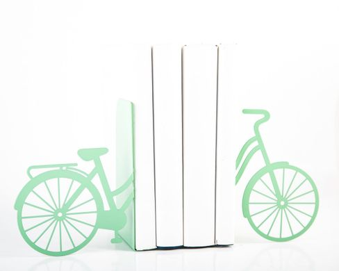 Unique Metal Bookends «My Mint Bike» by Atelier Article, Green