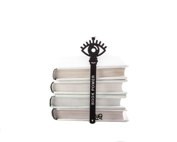 Metal bookmark / Key is Book power / by Atelier Article, Black