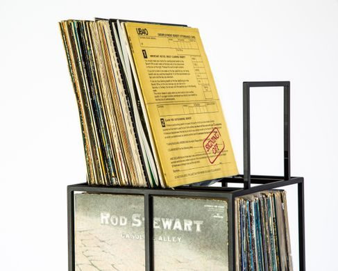 LP storage // 4 deck Album Сrate Сart // container holds over 280 LP records // free shipping, Black