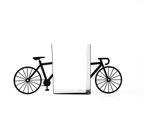Unique Metal Bookends «My bike» by Atelier Article, Black