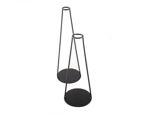 "Candle holders ""Smoking Pipes"" by Atelier Article, Black"
