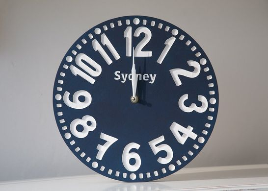 "Handmade wall clock ""Sydney"" by Atelier Article"