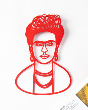 Metal bookmark Frida Kahlo