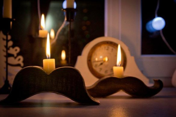 "Candle Holder ""Moustache Rodrigez"" by Atelier Article"
