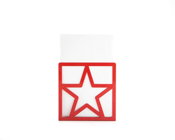 Metal bookend Red Star by Atelier Article, Red