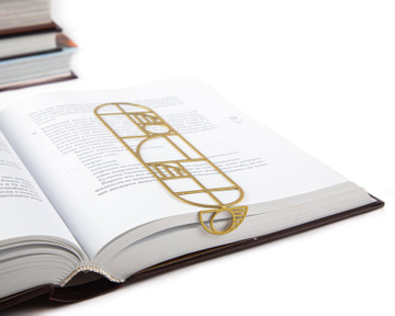 Artistic bookmark / Bauhaus geometry inspired / by Atelier Article, Golden