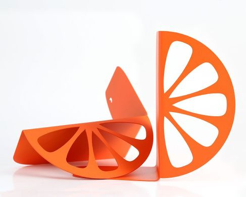 Metal Kitchen Bookends «Orange» by Atelier Article, Orange