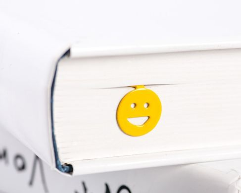 "Metal Bookmark ""Emoticon Smiley Smile"" by Atelier Article, Yellow"