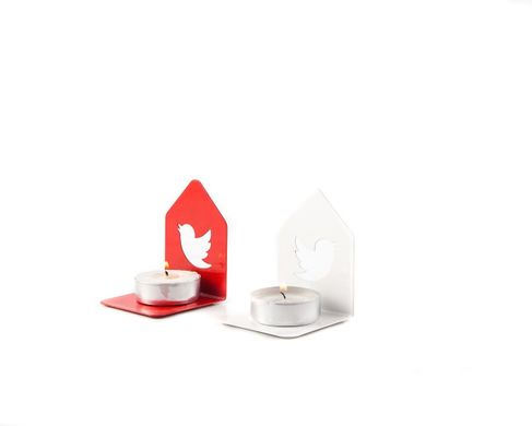 Metal Candle holders / A Pair of Twitter birds  // by Atelier Article, Assorted