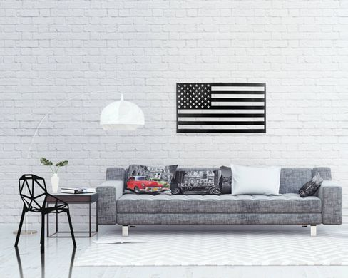 Metal USA flag Wall Art // Laser cut American Flag Metal Wall Hanging for a modern Home // Free Shipping Worldwide