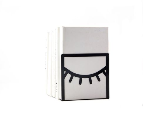 Metal Bookend // One Eye Closed // by Atelier Article, Black