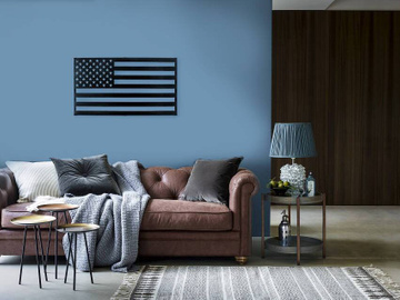 Wall Art // Metal USA flag // by Atelier Article, Black