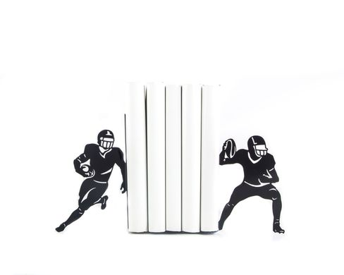 "Metal bookends ""Football"" by Atelier Article, Black"