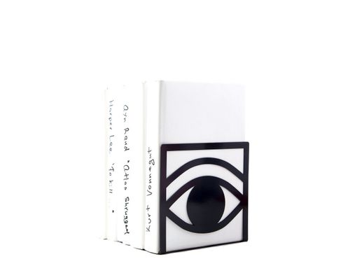 Unique bookends Eys One Eye Closed One Eye opened // black, Black