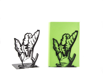 "Kitchen Bookends ""Kohlrabi"" by Atelier Article, Black"