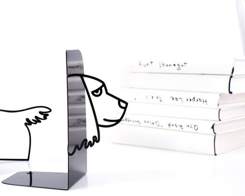 "Metal Bookends ""Cocker spaniel"" by Atelier Article, Black"