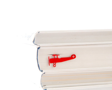 "Metal Bookmark ""Red Biplane"" by Atelier Article, Red"