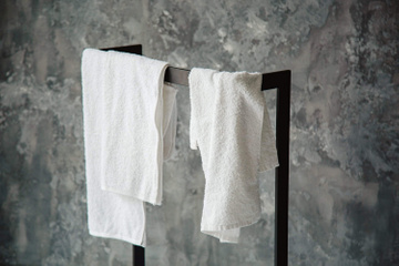 Minimalist Rack for towels or blankets // Clothes stand // by Atelier Article, Black