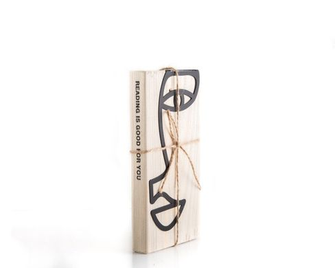 "Metal book bookmark ""A drawn face"" by Atelier Article, Black"