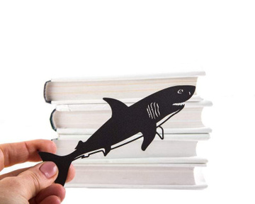 Unusual bookmark / Reading shark / by Atelier Article, Black