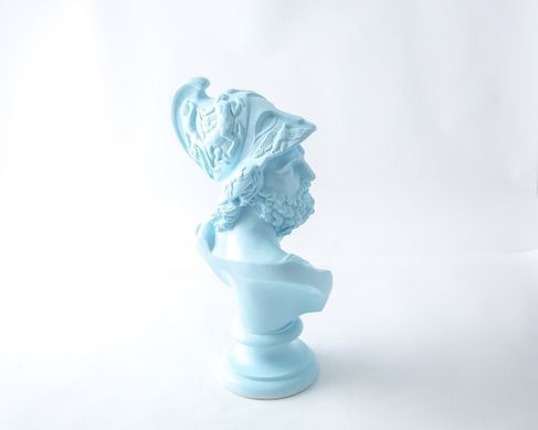 Pericles Ceramic Plaster Bust Statue Aquamarine// Traditional Ancient Sculpture Replicated // modern home / Free Shipping / Man cave perfect