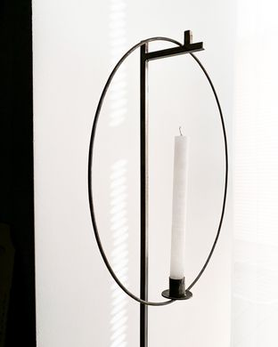 "Candle holder ""High Ring"" by Atelier , Black"