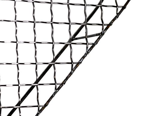 Metal wall decor Mesh Heart handmade by Atelier Article, Dark gray