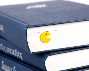 "Metal Bookmark ""Packman"" by Atelier Article, Yellow"