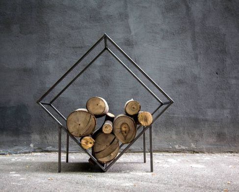 "Firewood storage fot Indoors ""Rombus"" Log holder by Atelier Article"