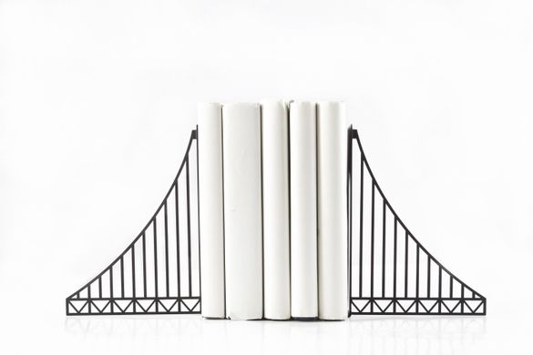 Metal Bookends / Verrazano Bridge / by Atelier Article , Black