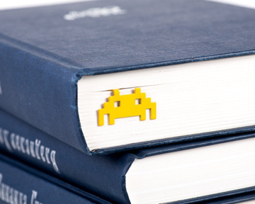 Metal Bookmark / Retro Monster / by Atelier Article, Yellow