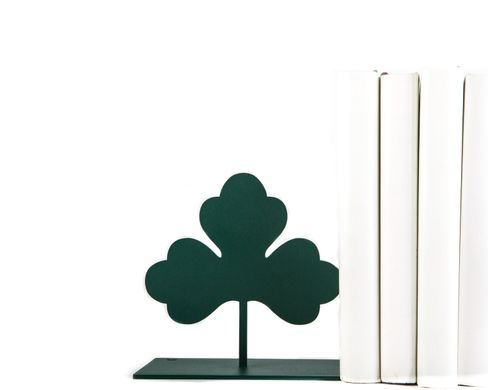 "Metal Bookends ""Green Clover"" by Atelier Article, Green"