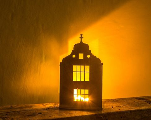 "Lantern Candle holder Tin house ""Amsterdam (small)"" by Atelier Article"
