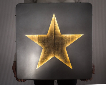 Large Wall Art // LED Star Sign Industrialstyle // by Atelier Article, Assorted