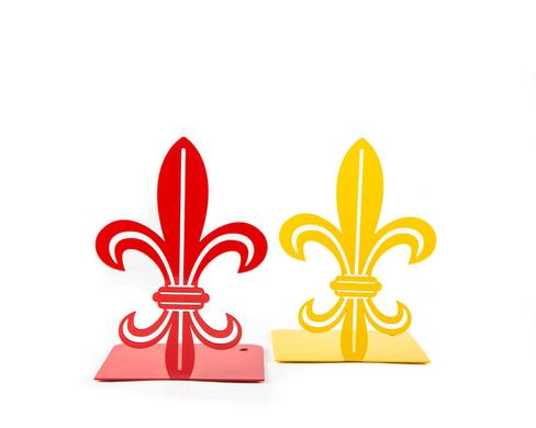 A metal bookend French Lily by Atelier Article, Yellow