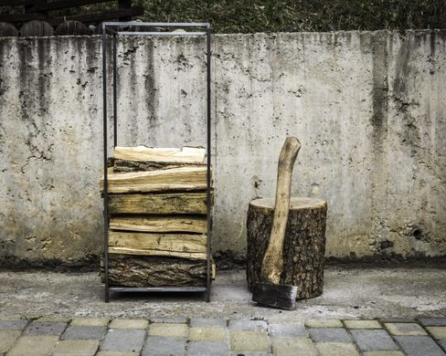 Firewood Holder flat top // Log Storage for indoors // by Atelier Article, Gray