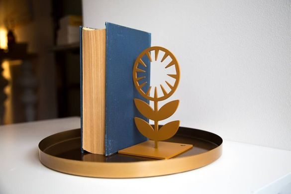 «Nordic Flowers» heavy metal bookends by Atelier Article, Assorted