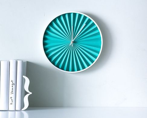 "Wall Clock ""Turquoise Harmonica"" by Atelier Article"