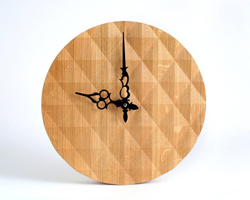 "Handmade Wall Clock ""Gorgeous Wood"" by Atelier Article"