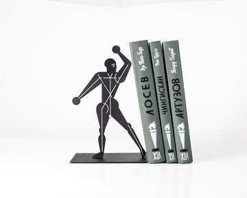 Metal Bookend / Bauhaus Man Standing / by Atelier Article, Black